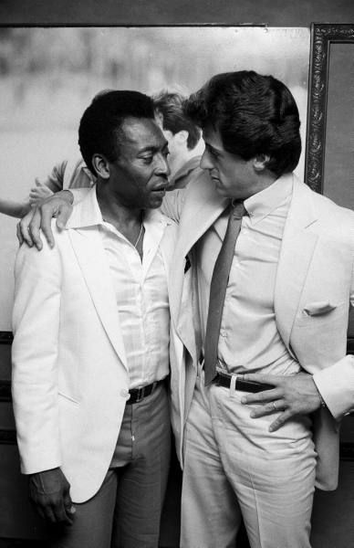 Pele and Sylvester Stallone