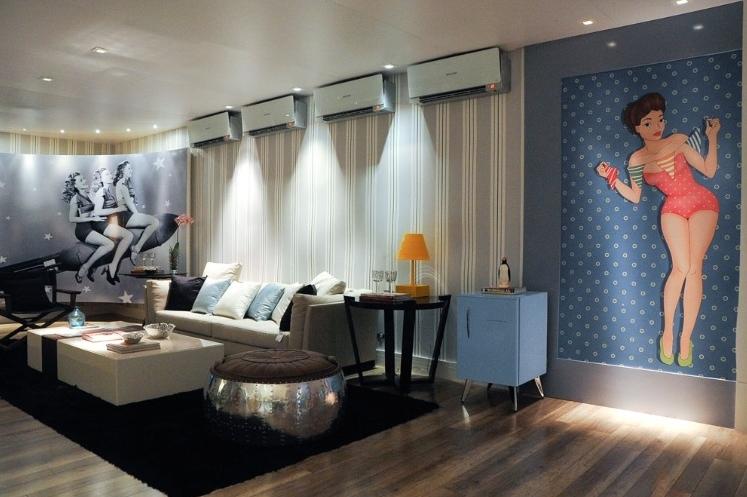 Frigobares invadem a decora o de quartos salas e home for Salas vintage modernas