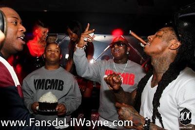 Foto de Lil Wayne y Mack Maine en el cumpleaños de Birdman