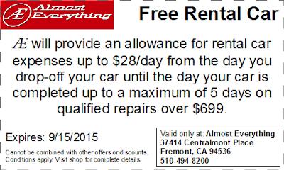 Coupon Free Rental Car August 2015
