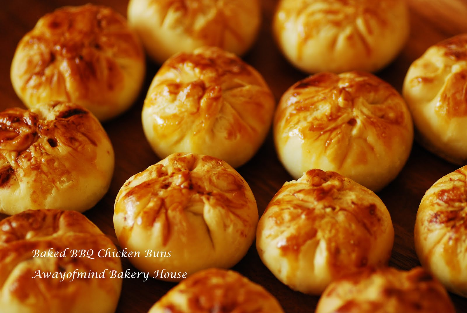 Siew Bao (Baked BBQ flaky Buns)