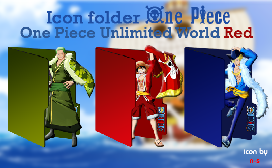 Download Icon Folder One Piece Unlimited World Red