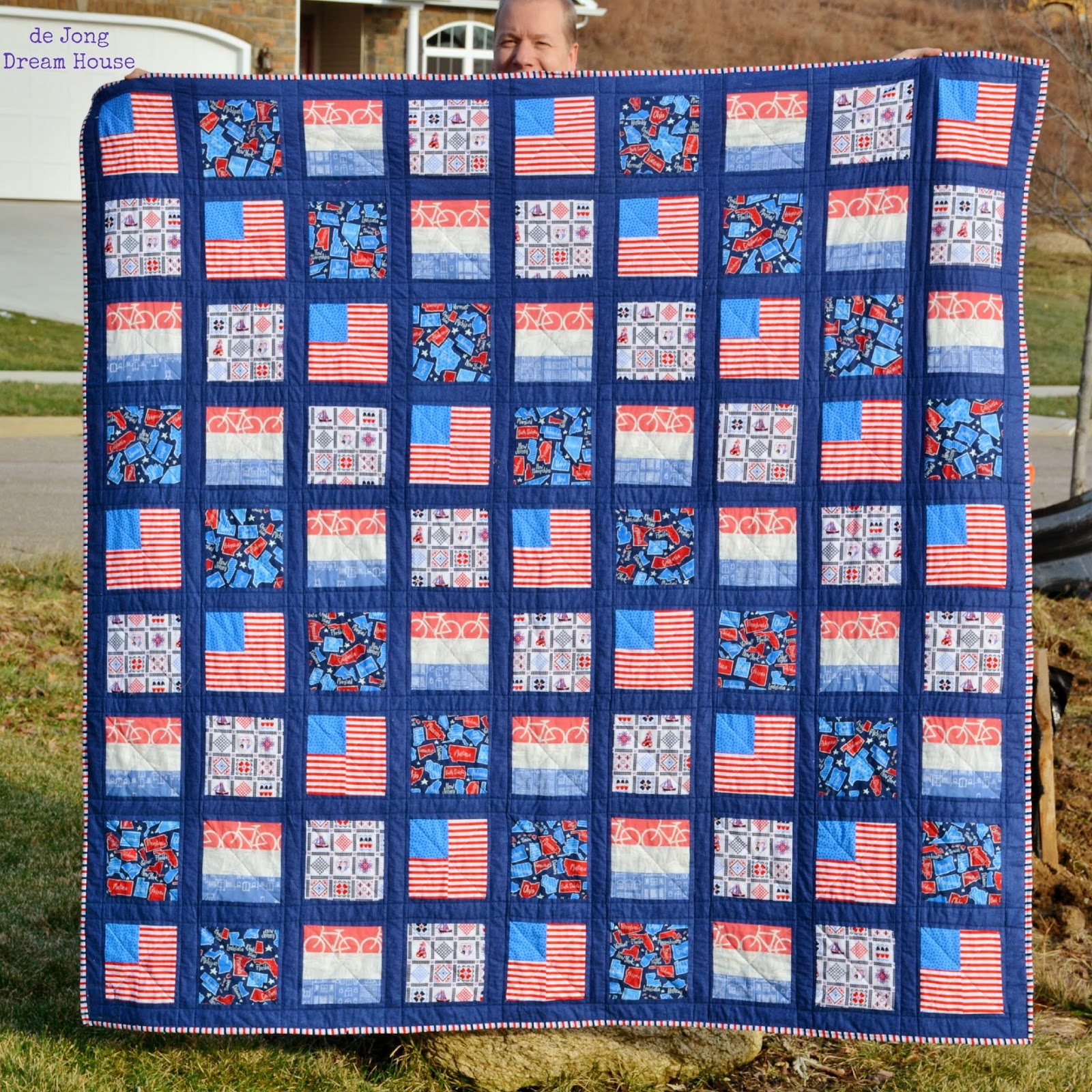 Dutch-American citizenship quilt