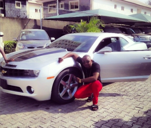 Sean tizzle with his new ride, Chevrolet camaro RS
