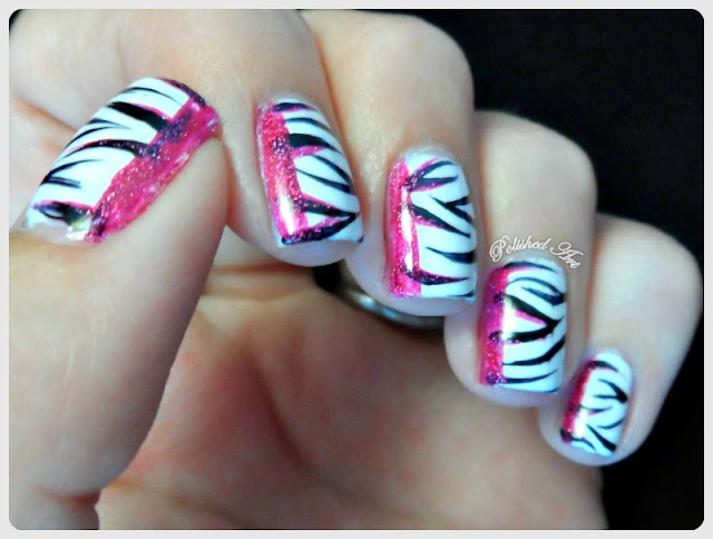 Black-White-Nail-Art-Challenge-6-Recreate-favourite-manicure-animal-zebra-print