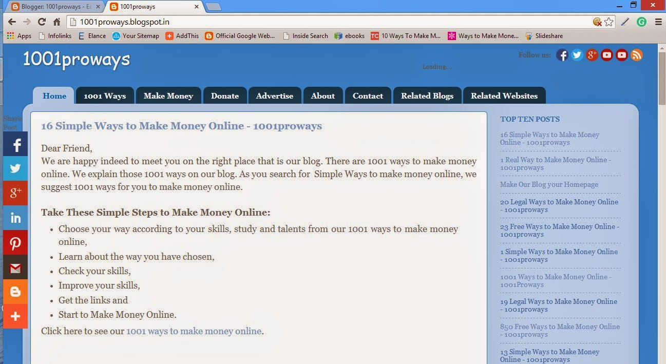 Make our Blog your Homepage 1001proways.blogspot.com