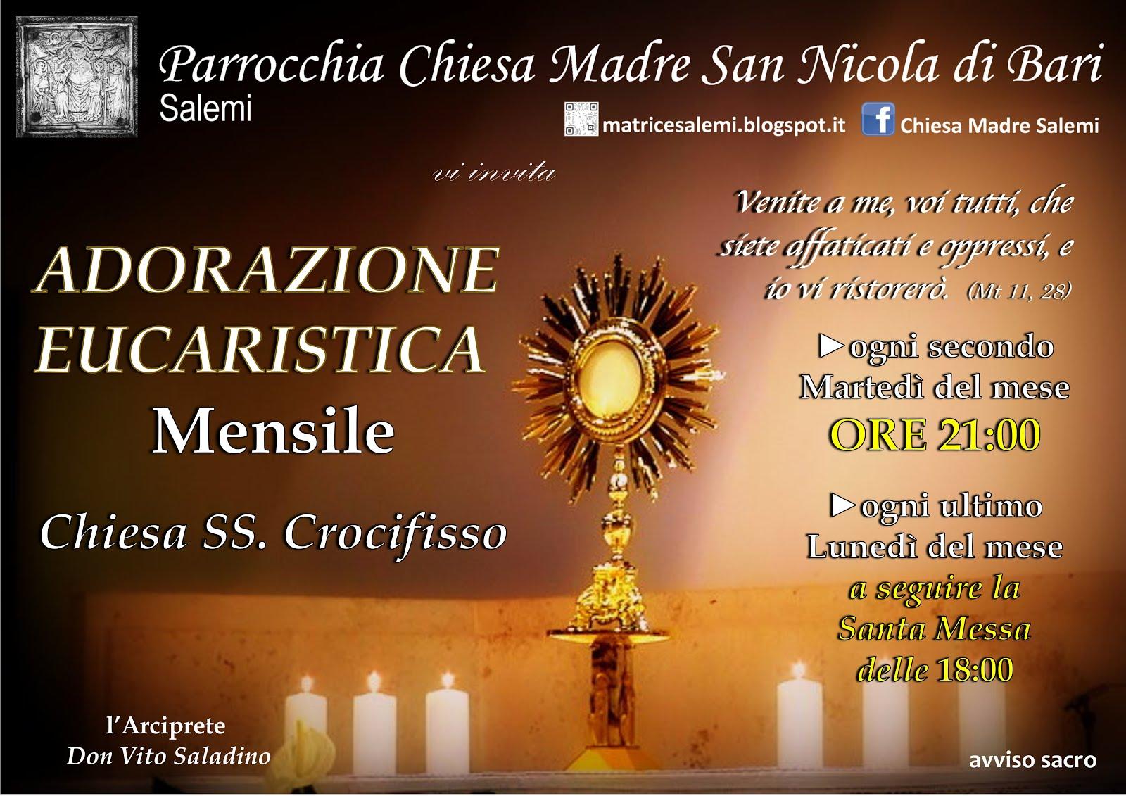 Adorazione Eucaristica Mensile