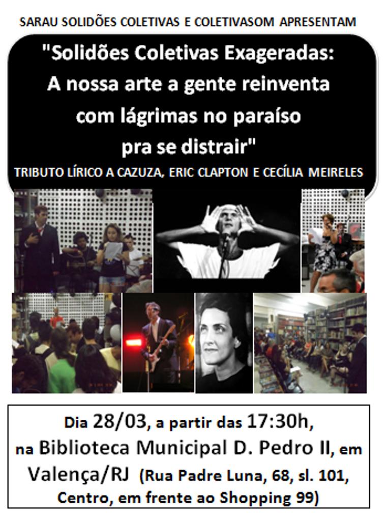Vem aí o Sarau Solidões Coletivas de março!