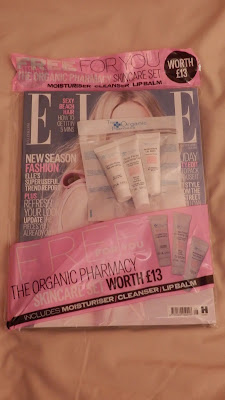 Elle Magazine freebies The Organic Pharmacy Skincare Set July 2015