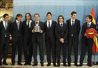 Equipo Español Copa Davis 2009 con Zapatero