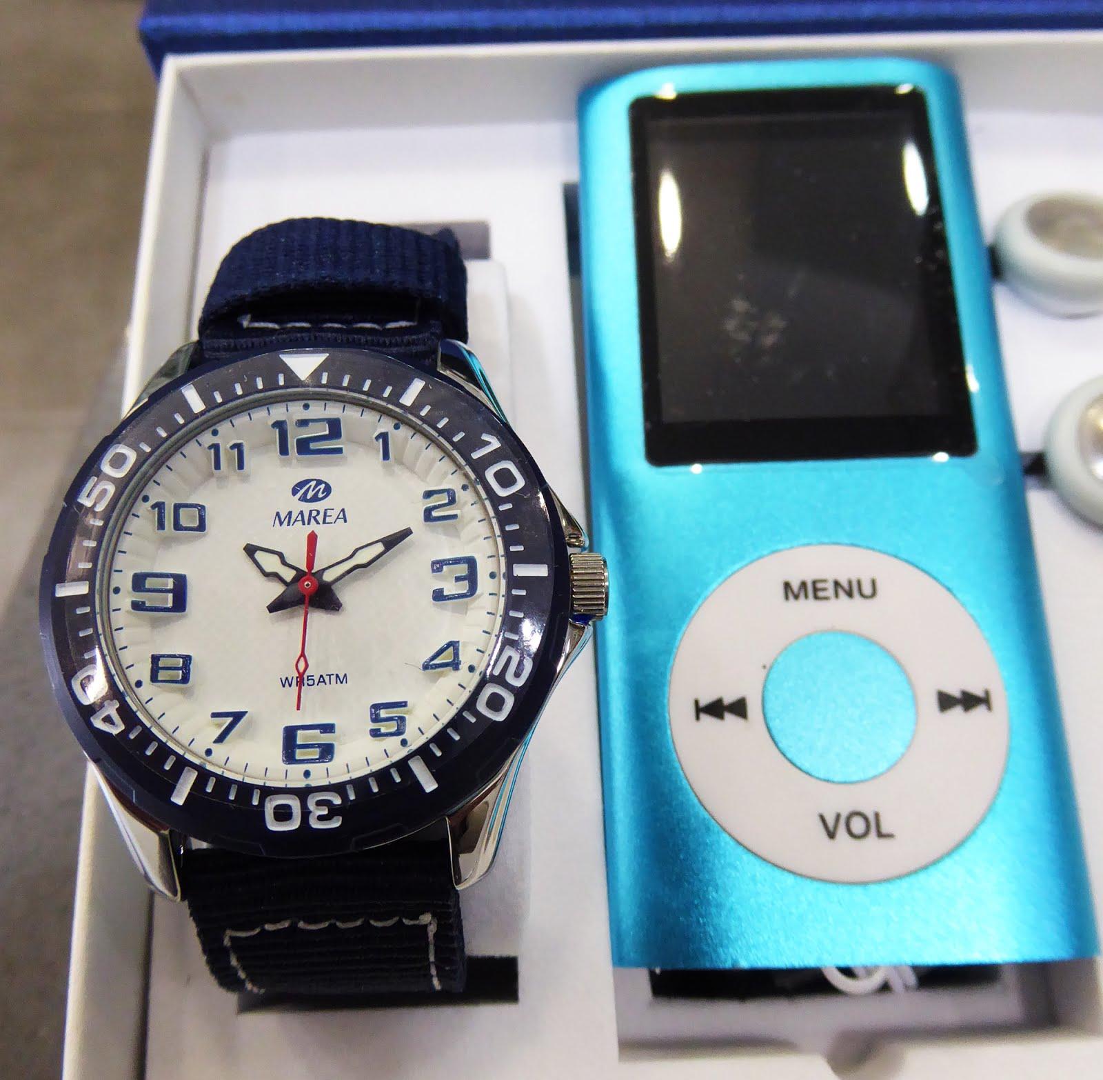 Estuche de Reloj Marea + MP3