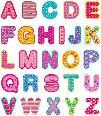 letras de colores