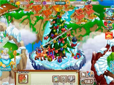 imagen del evento el arbol de navidad de dragon city