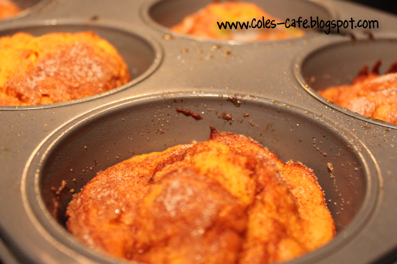 Coles Cafe: Cinnamon Crunch Sweet Potato Muffins