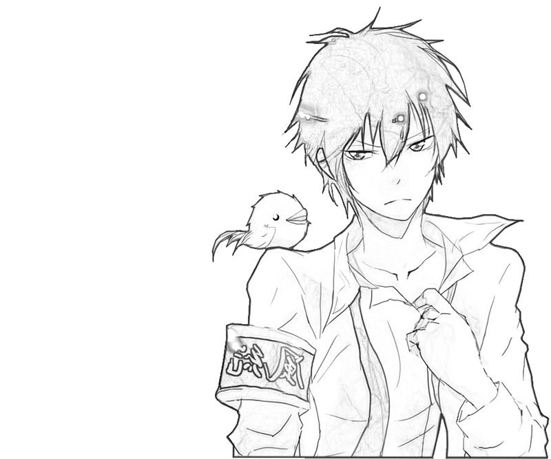 kyoya-hibari-funny-coloring-pages