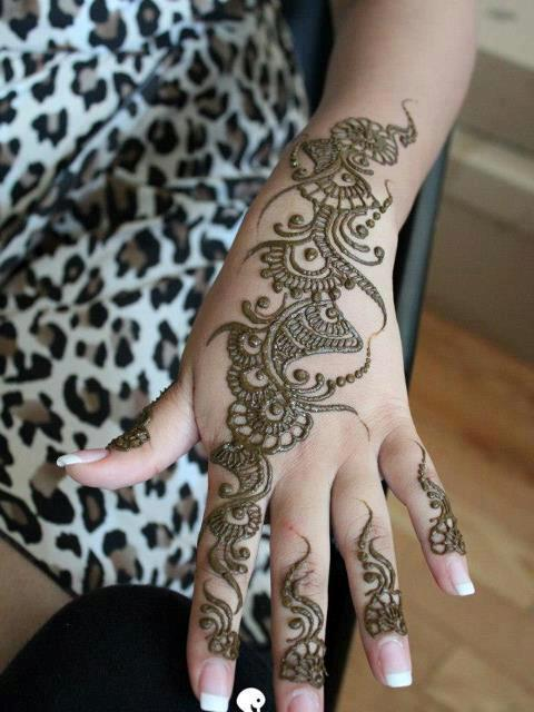 Latest fancy mehndi designs 2013 for Simple arabic mehndi designs for beginners home