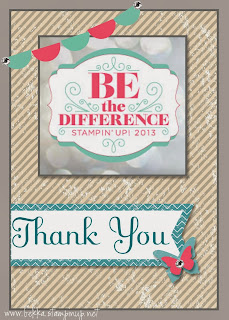 Bekka's Stampin' Up! Convention Thank You Card