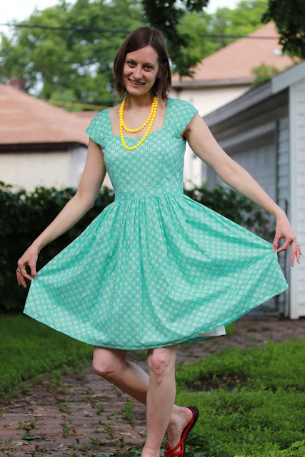 TrinKnitty: Sew FO: Cambie Dress