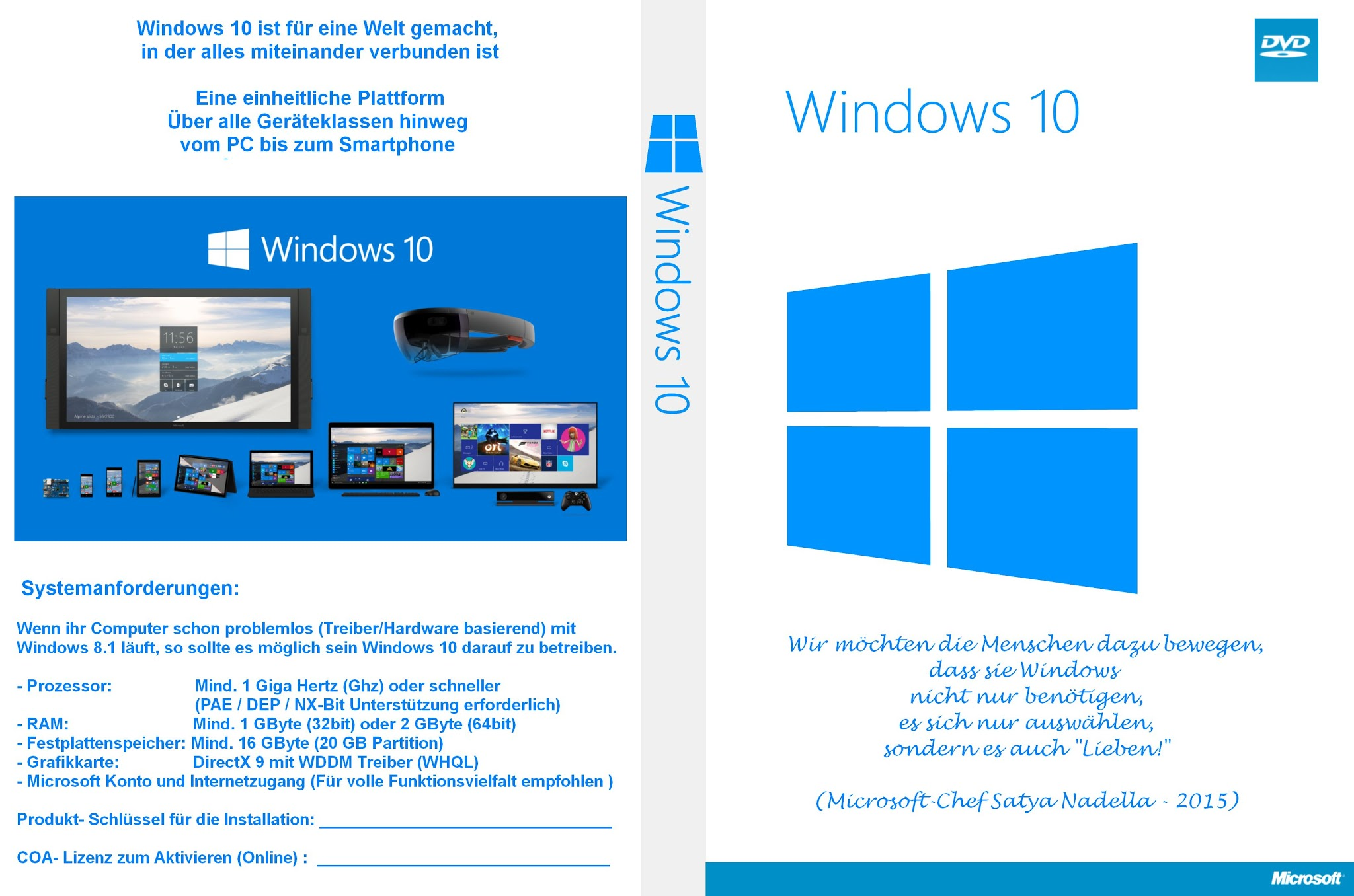Windows 10 Pro Multi Windows 2B10 2BDvdBox 2BCover 2B  2BHuelle 2B2015
