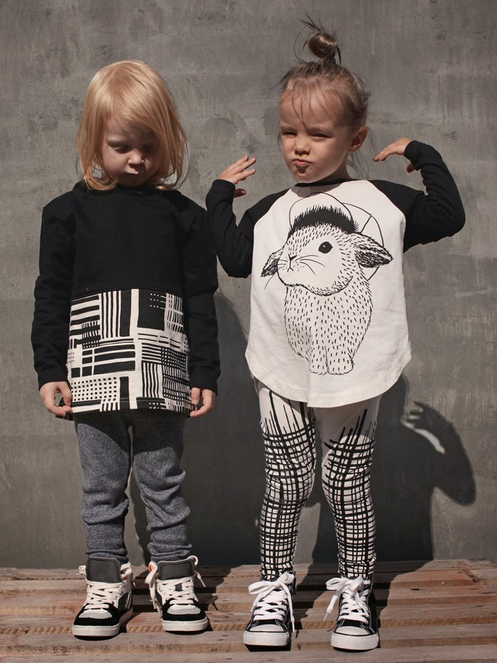 Monochrome kids fashion by Mainio Clothing for autumn 2014 collection