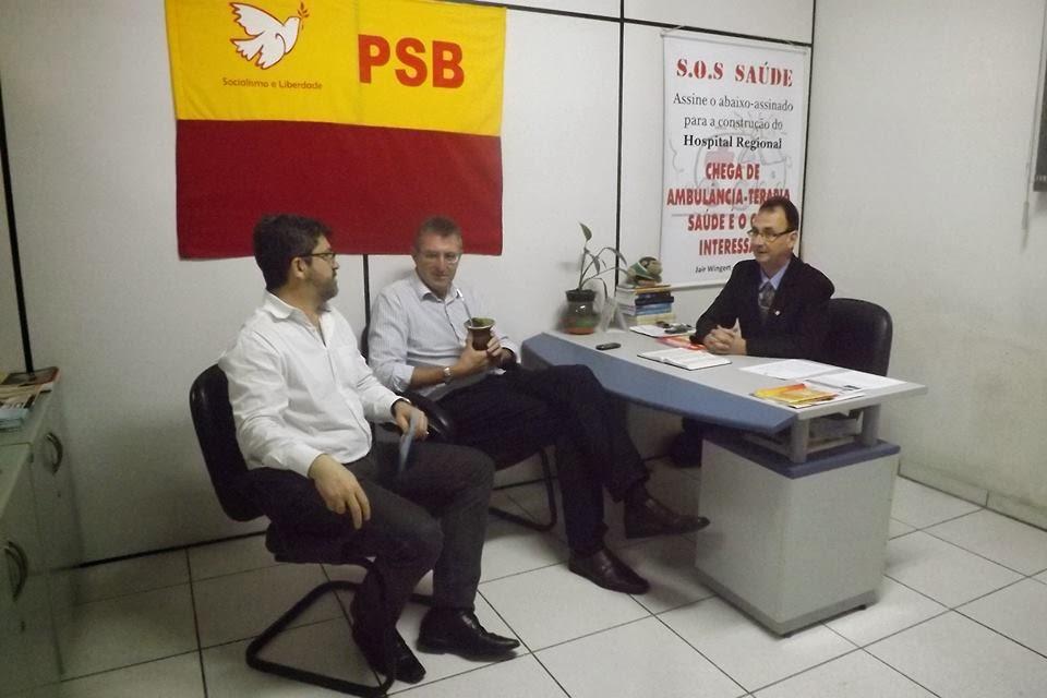 JAIR RECEBE VISITA DO DEPUTADO HEITOR SCHUCH