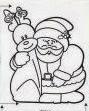 desenho papai noel com rena para pintar