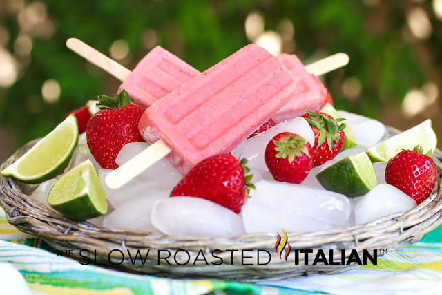 ... Roasted Italian - Printable Recipes: Strawberry Lime Yogurt Popsicles