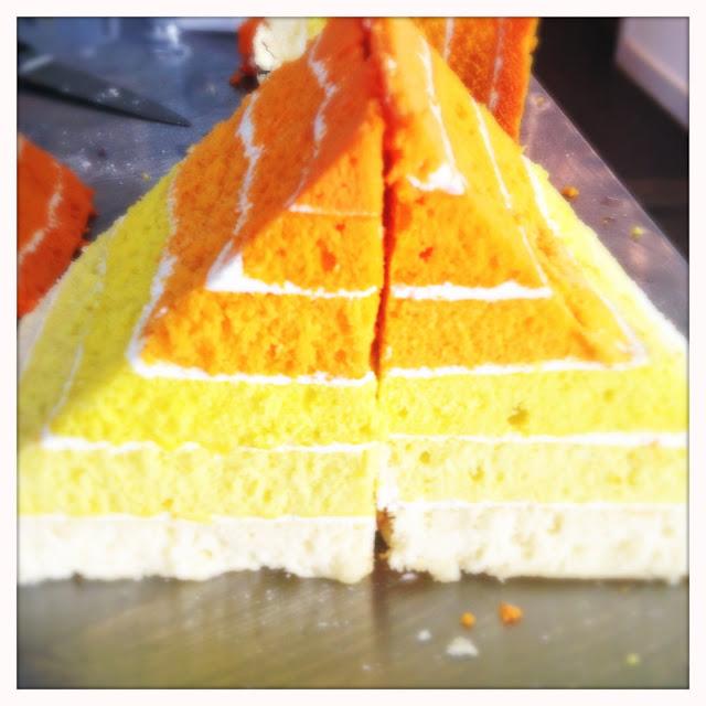 3 Layer Apple Cake: Double Sunshine Pyramid Cake