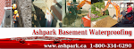 Ashpark Basement Waterproofing Contractors Ontario 1-800-334-6290
