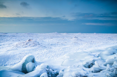 scenic winter view on the shore of lake Huron in Ontario Canada by Chris Gardiner Photography www.cgardiner.ca