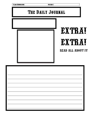 Classroom freebies newspaper template for Free printable newspaper template for students