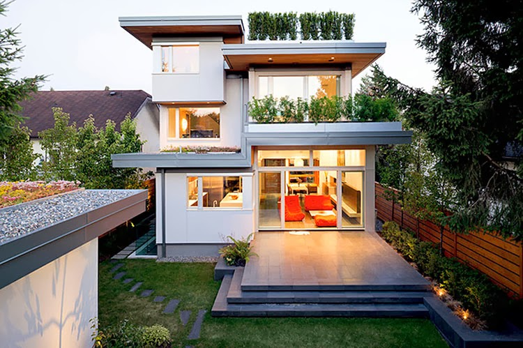 Leed platinum residence kerchum residence modern home for Leed cabins