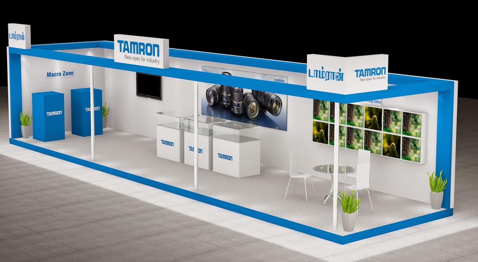 Saravanan designs tamron exhibition 3d stall design 3d design