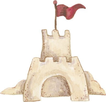 castillo de arena decorado con banderas dibujos de castillos de