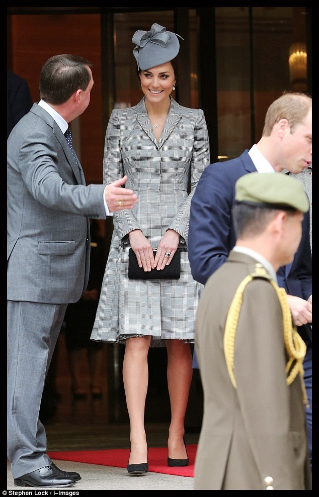 Kate Middleton makes first public appearance in an Alexander McQueen coat dress since announcing second pregnancy