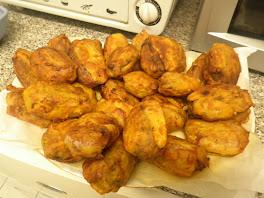 boulettes entourées lamelles de pommes de terre