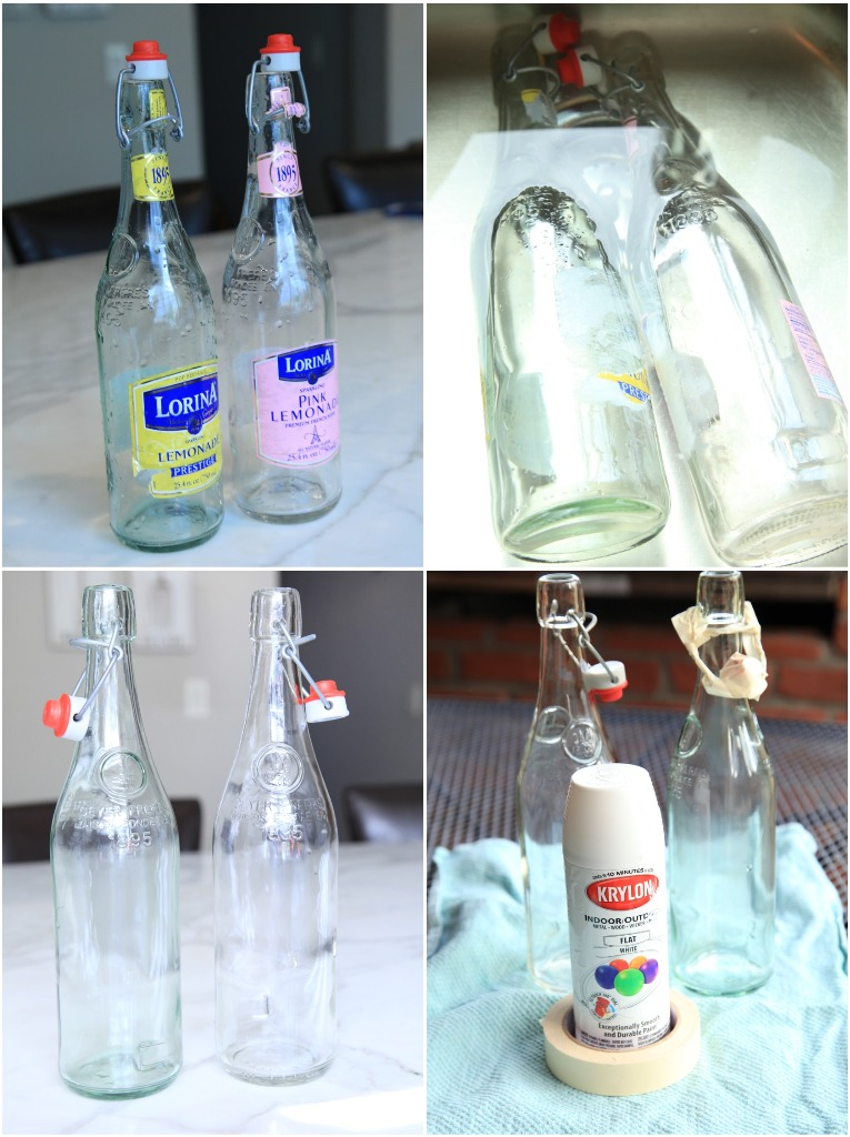 vintage pretty diy glass bottle spring display