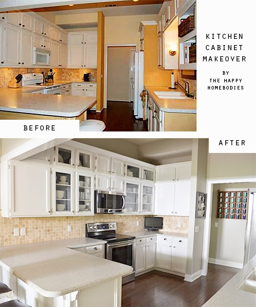 The Happy Homebodies: Reveal: Kitchen Cabinet Makeover