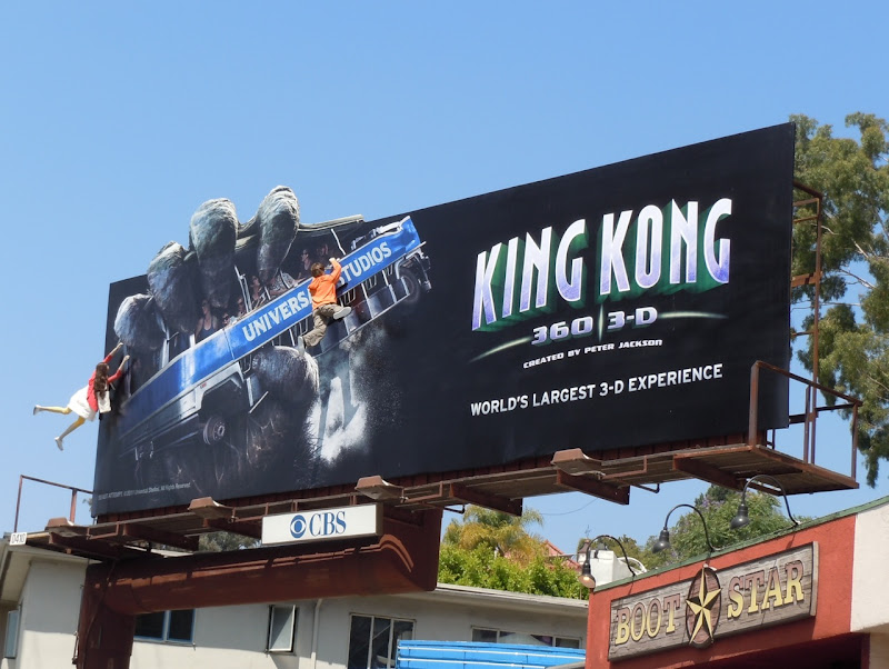 King Kong 3D Universal Studios billboard