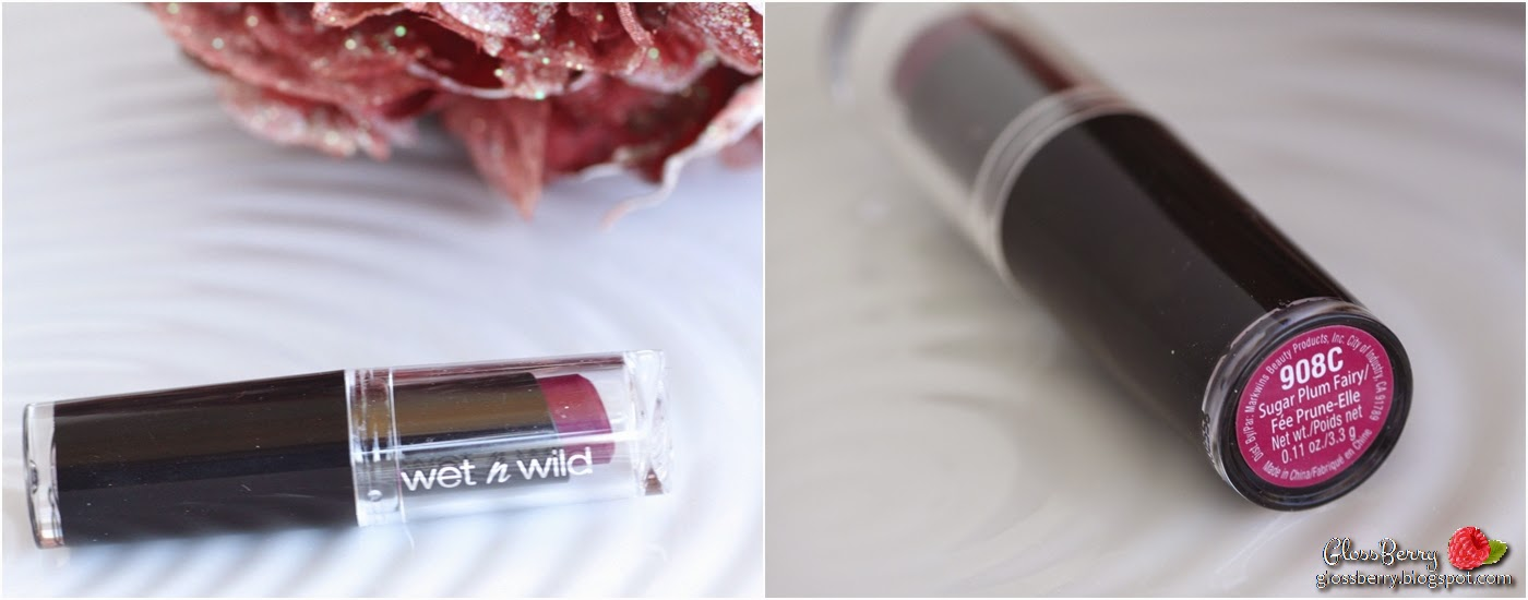 wet n wild Mega Last Lip Color - Sugar Plum Fairy 908C review swatches dupe rebel דיופ רבל מאק ווט אנד ווילד שוגר פלאם פיירי שפתון סגול לחורף סקירה כהה