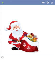 Facebook Santa Claus Emoticon With Presents