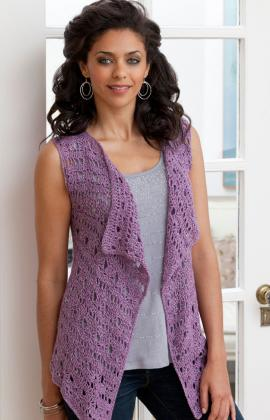 LC1484 Crochet Vest - Sewing, Needlecraft, Thread, Textile