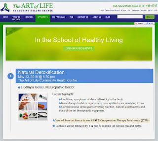 Natural Detoxification Open House: Art of Life Community Health Centre