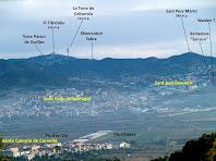 Panoràmica del Baix Llobregat i les serres que l'envolten