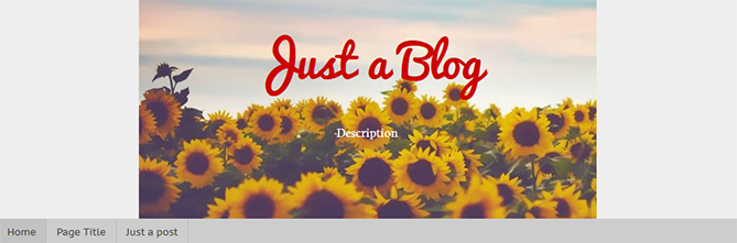 center blogger header
