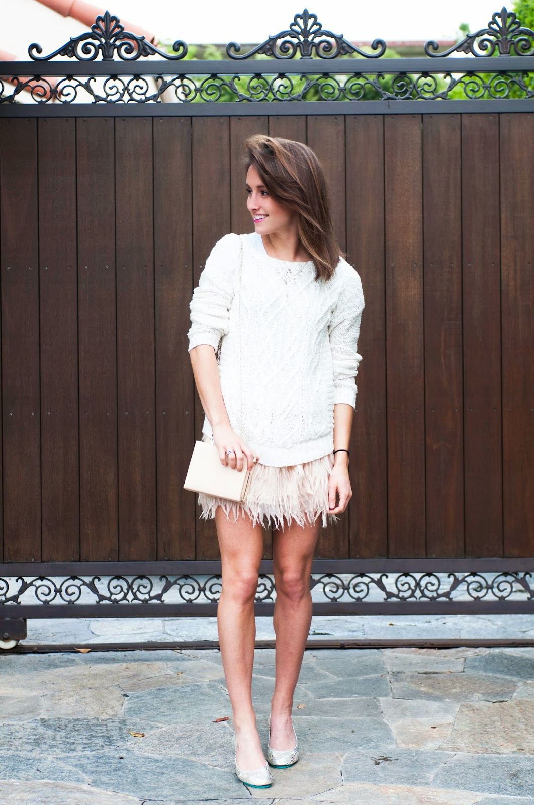 feather-skirt-sweater-and-tieks-holiday-outfit