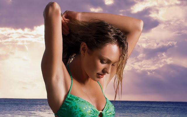 Candice Swanepoel in Green Bikini
