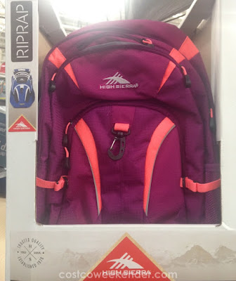 Be sure your kids have a bag to lug around books with the High Sierra Riprap Daypack Backpack