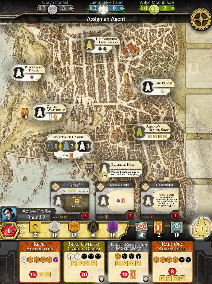 Lords of Waterdeep iPad Boardgame day gameplay