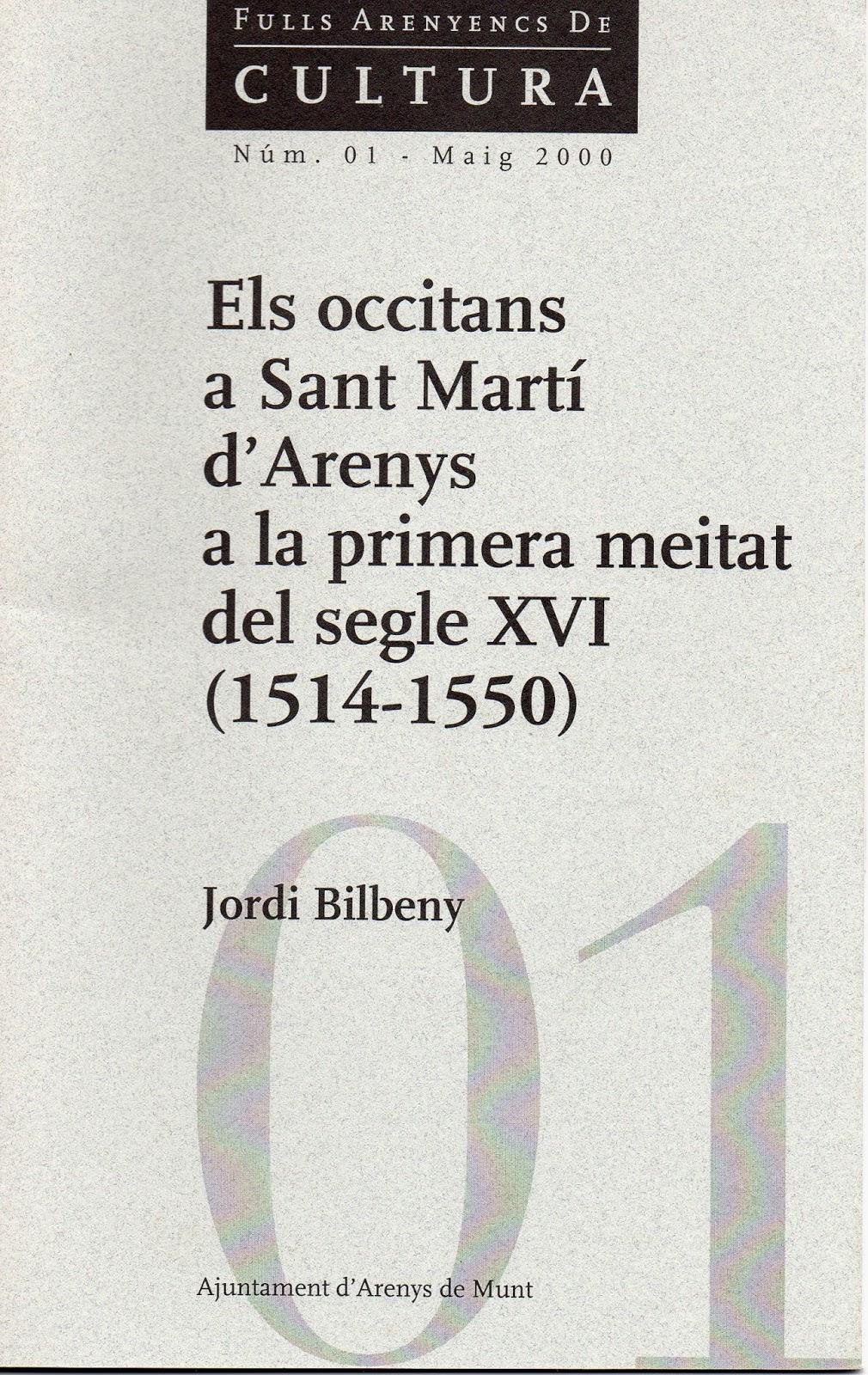 Occitans a Sant Martí d'Arenys a la primera meitat del segle XVI